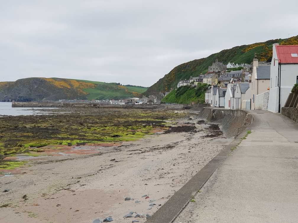 By the shore in Gardenstown