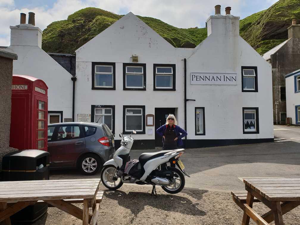 Outside the inn in Pennan