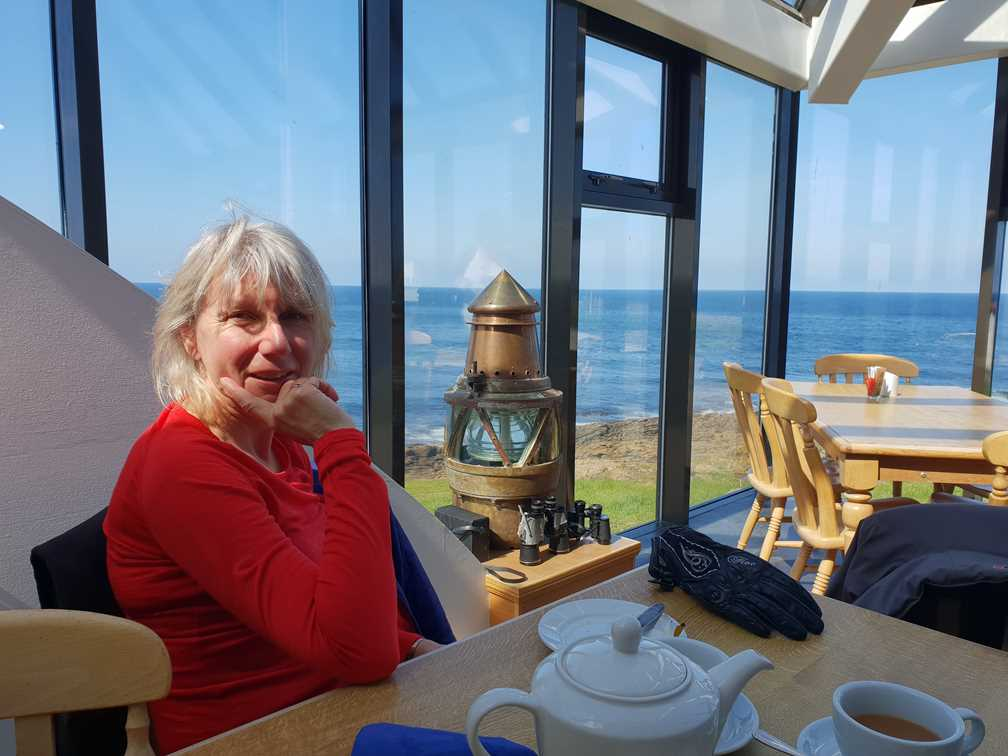 In the cafe at the Scottish Lighthouse Museum