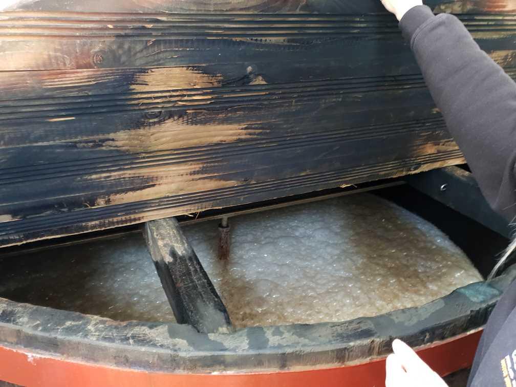 Fermentation underway in the vats