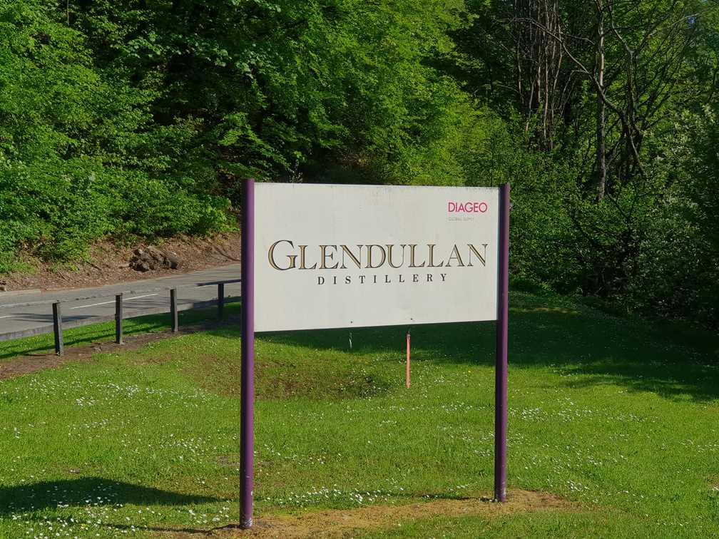 Glendullan whisky distillery