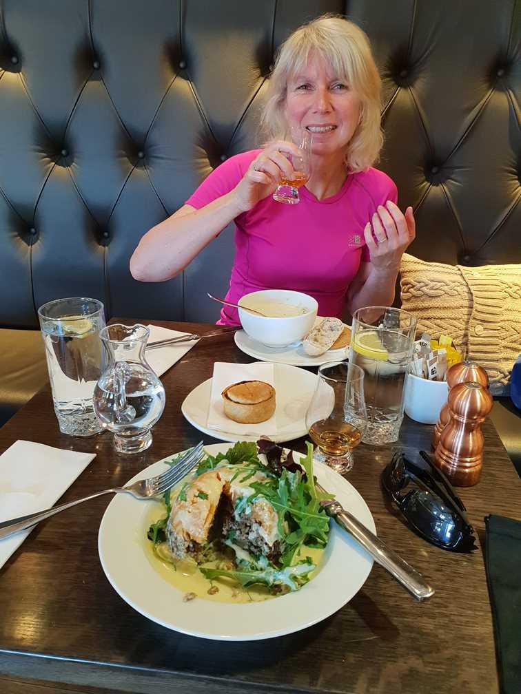 Eating in the Glenfiddich restaurant