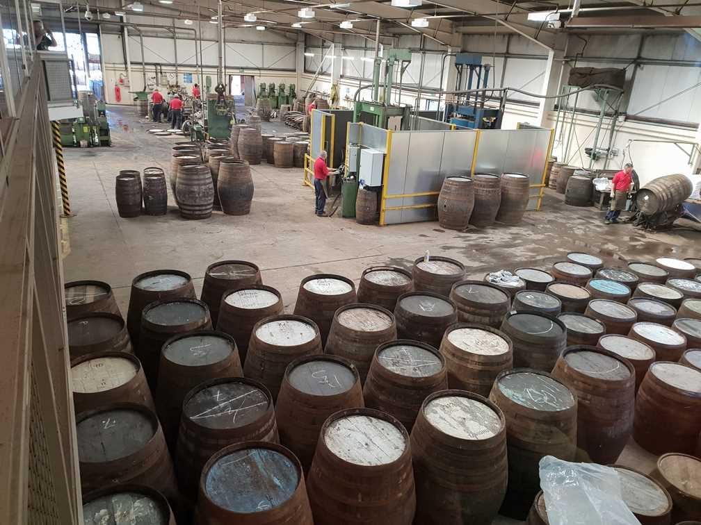 Finished barrels in the Speyside Cooperage