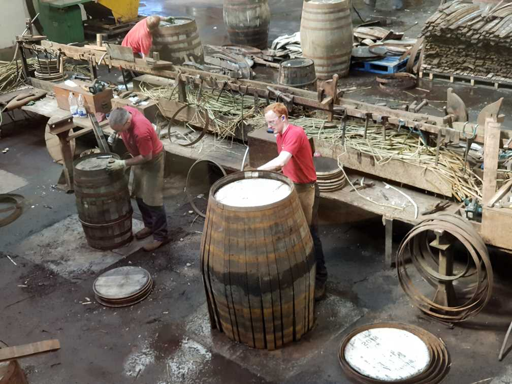 On the tour of the Speyside Cooperage