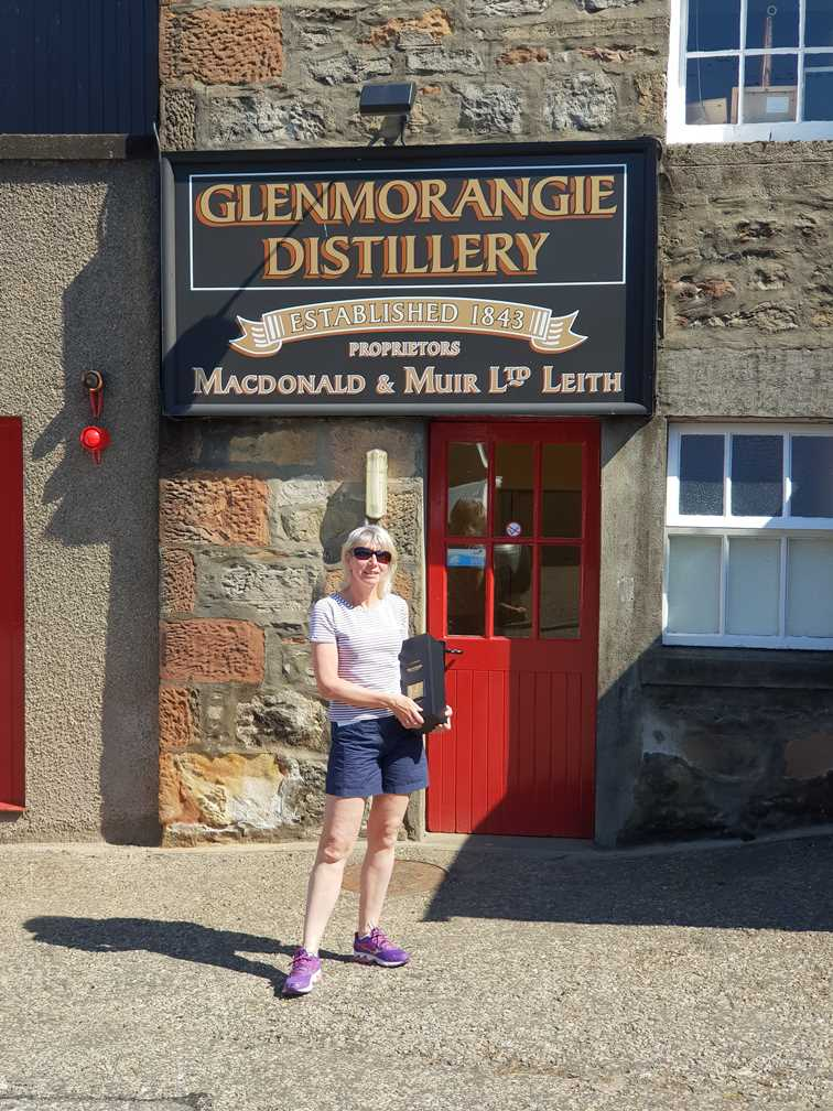 Outside another of the Scottish Whisky Distilleries: Glenmorangie