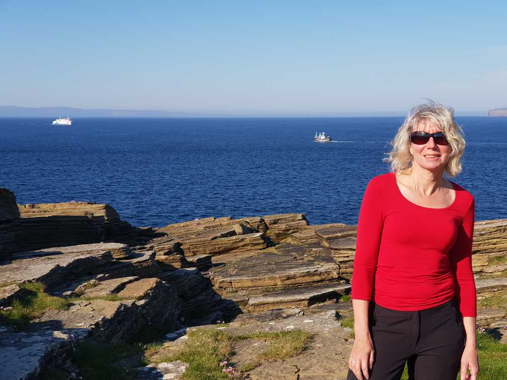 Standing on the headland at Scrabster