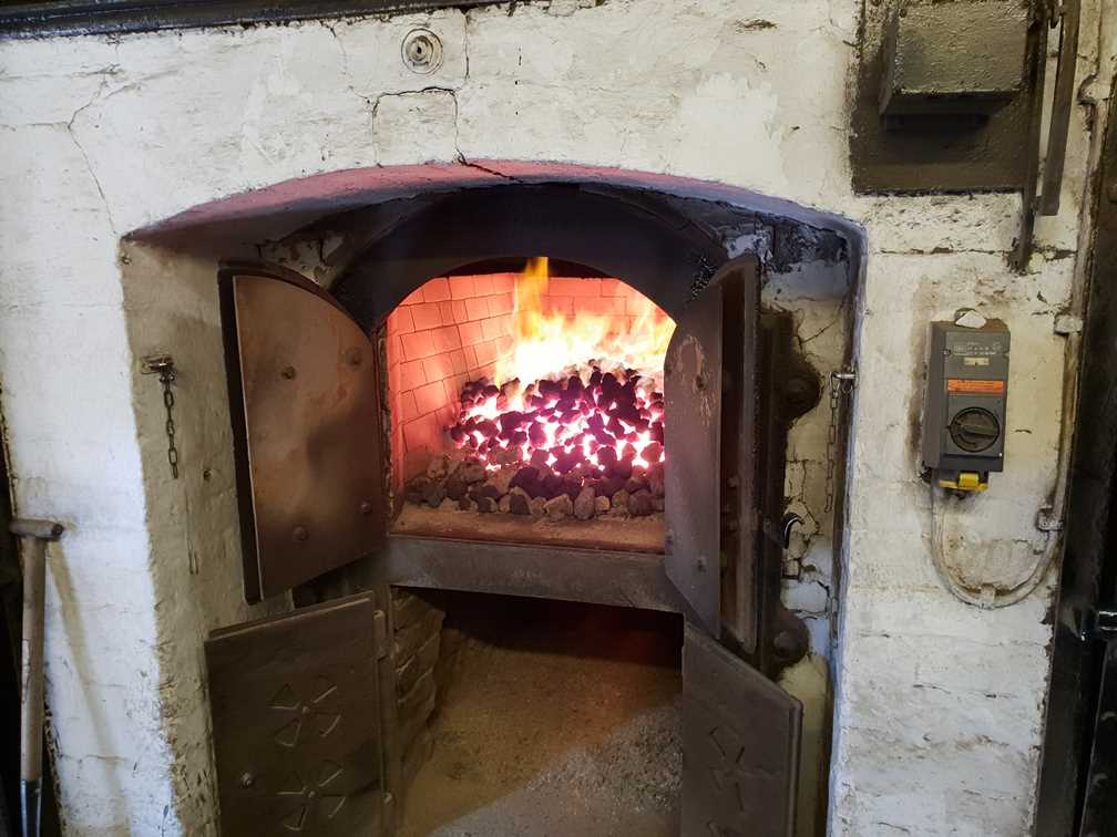 The first of two kilns in Highland Park whisky distillery