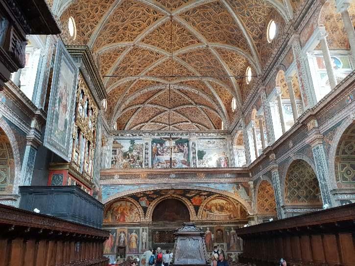 Inside San Maurizio al Monastero Maggiore