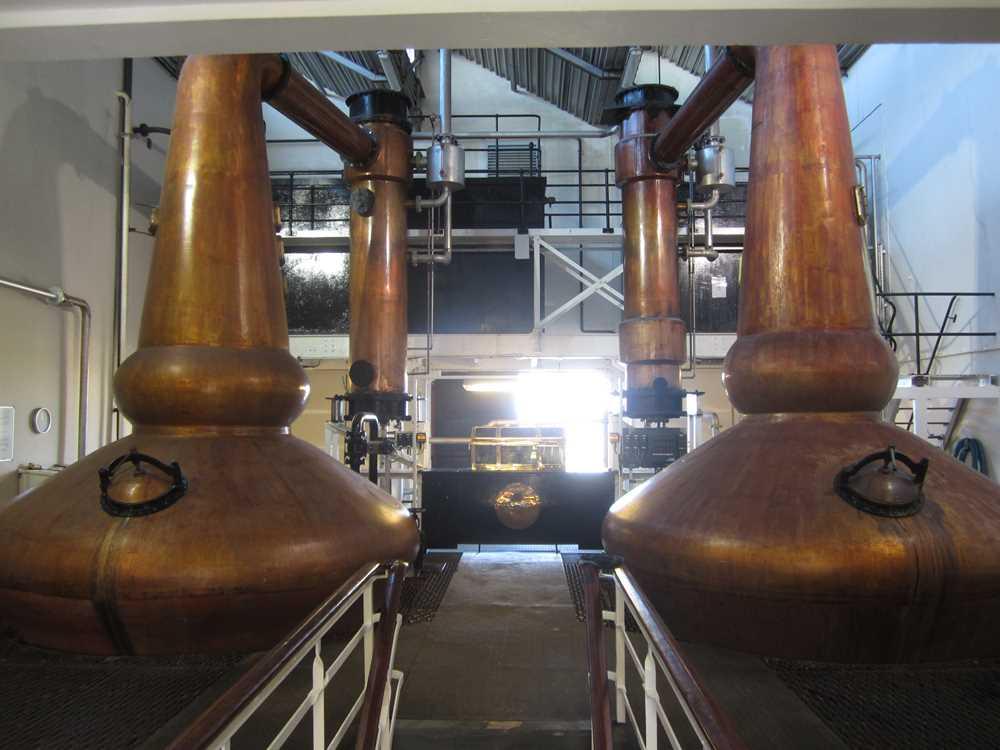The whisky stills in Glenglassaugh