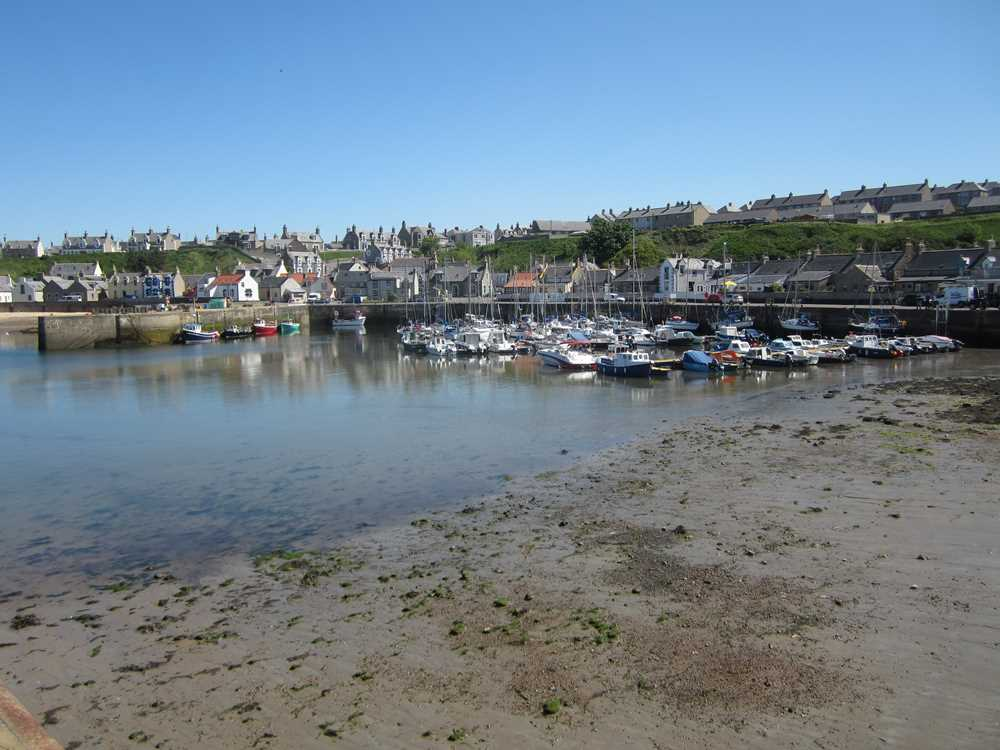 Pretty harbour at Findochty