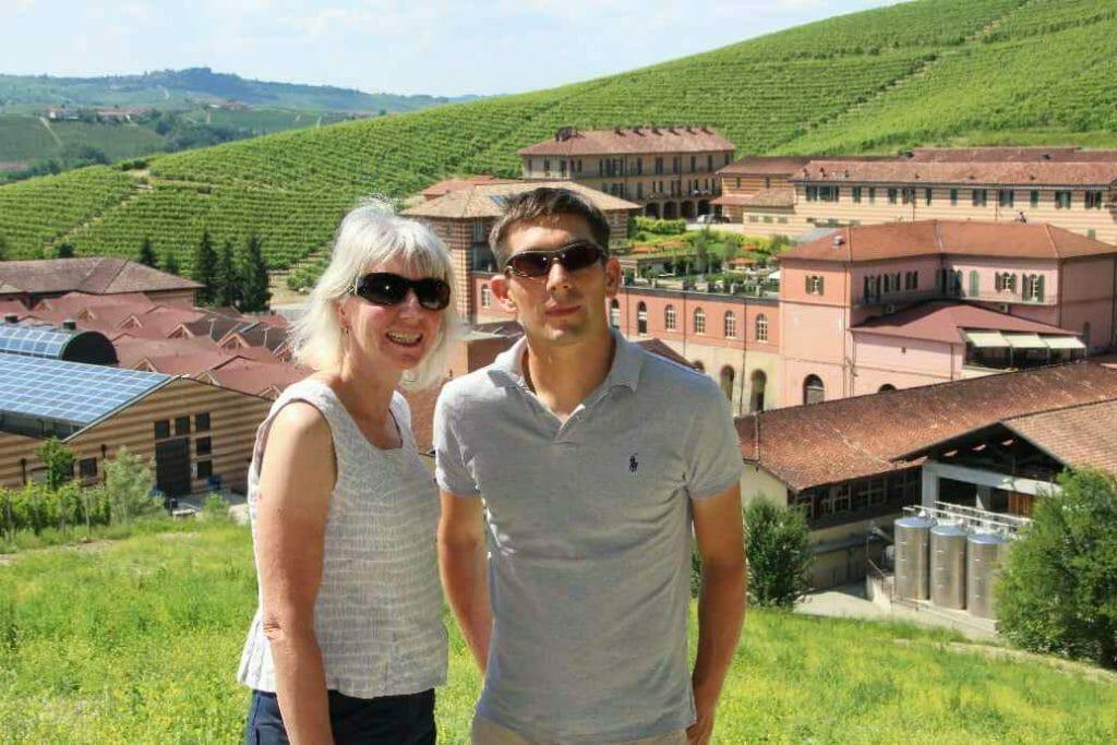 With Ben overlooking Fonatanafredda