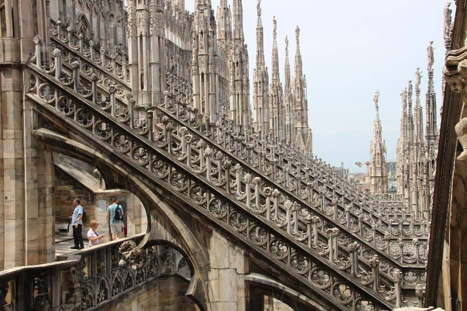 Terraces of Milan Cathedral
