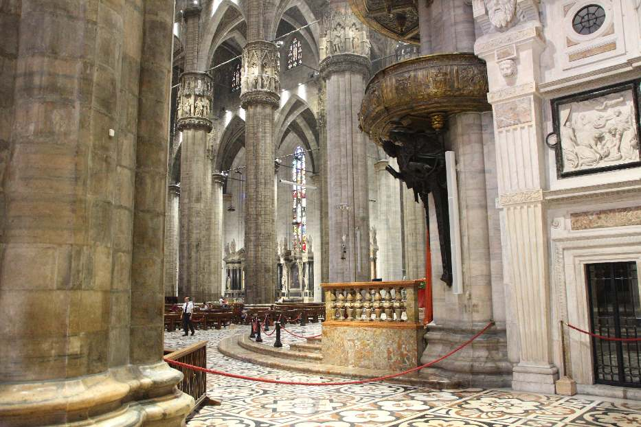 Inside the Milan Cathedral