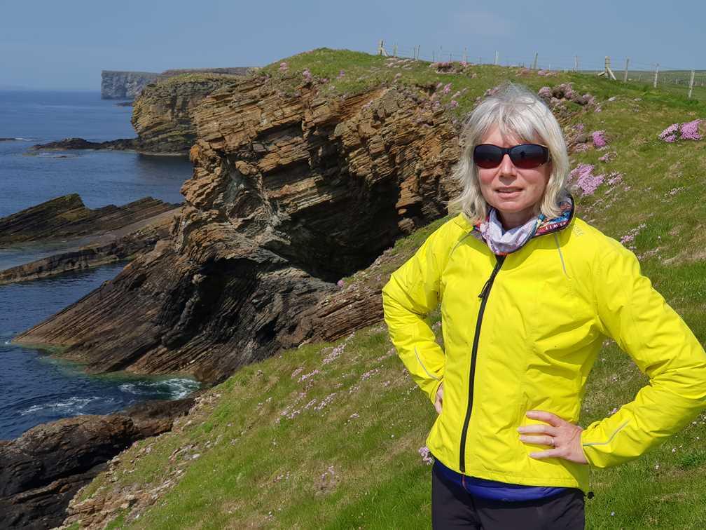 Me on cliff on Orkney visit