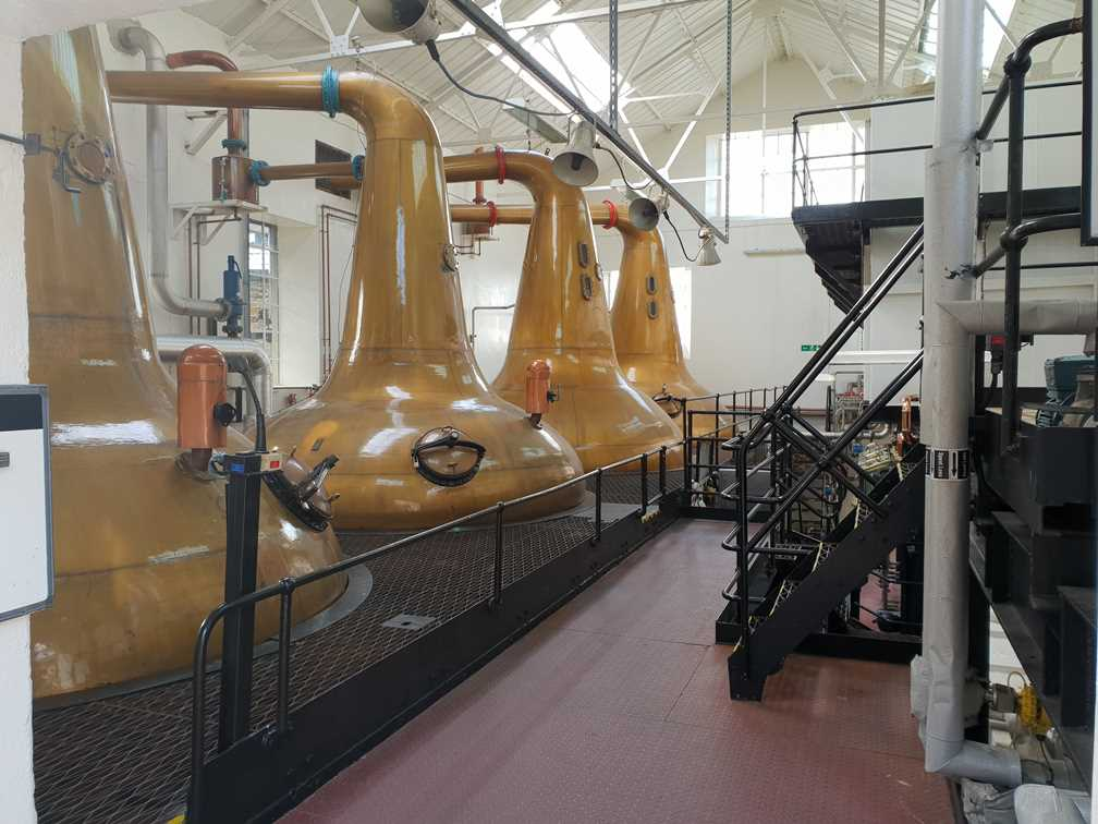 Visit Orkney to see the whisky stills in the Highland Park whisky distillery
