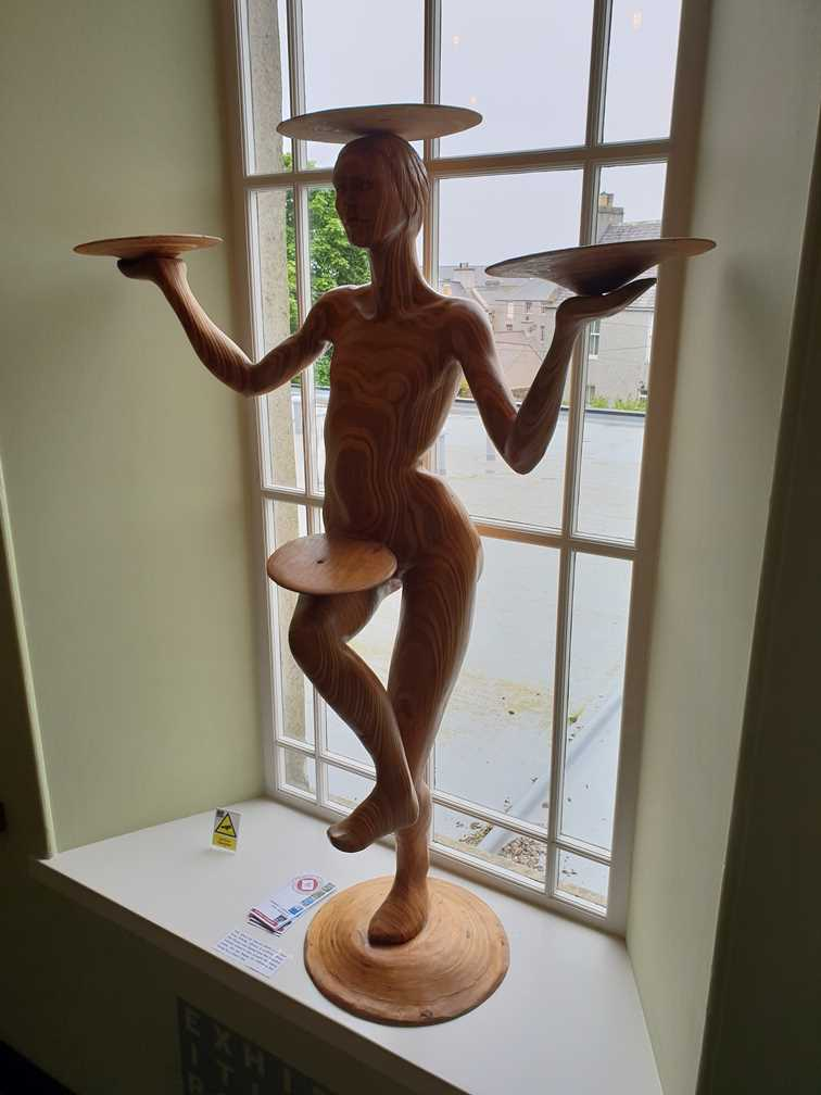 Sculpture in The Old Library in Kirkwall, Orkney