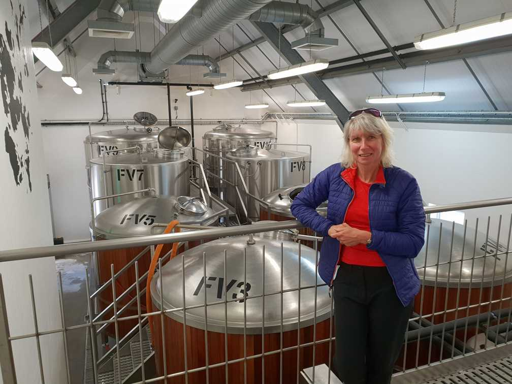 Inside the Orkney Brewery