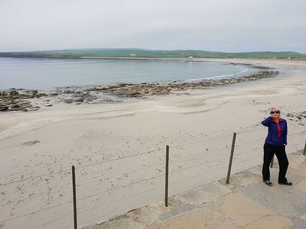 Beach on visit to Orkney