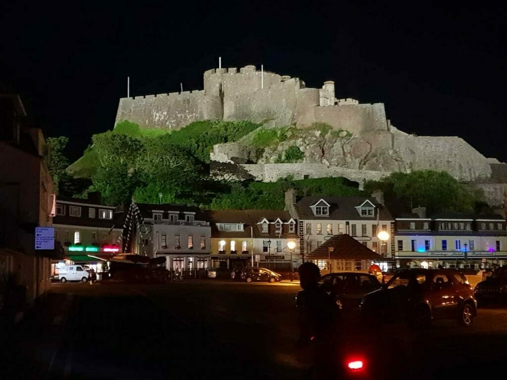 What to see on Jersey: Castle at night