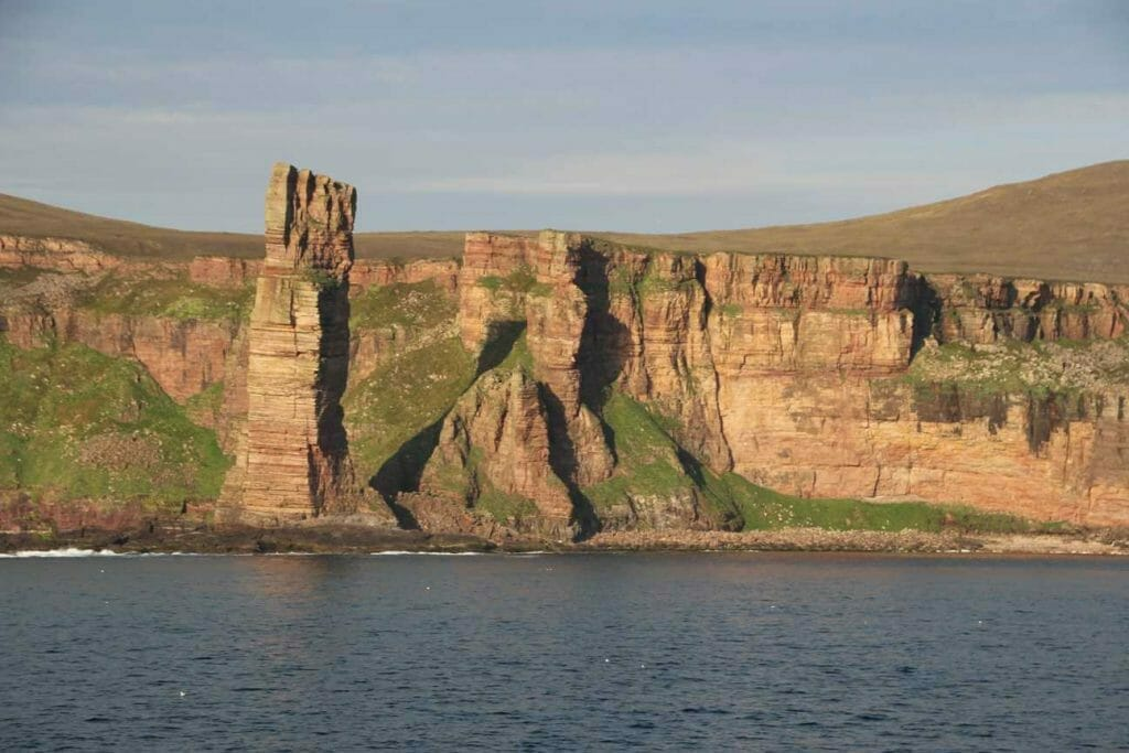 The Old Man of Hoy on a visit to Orkney