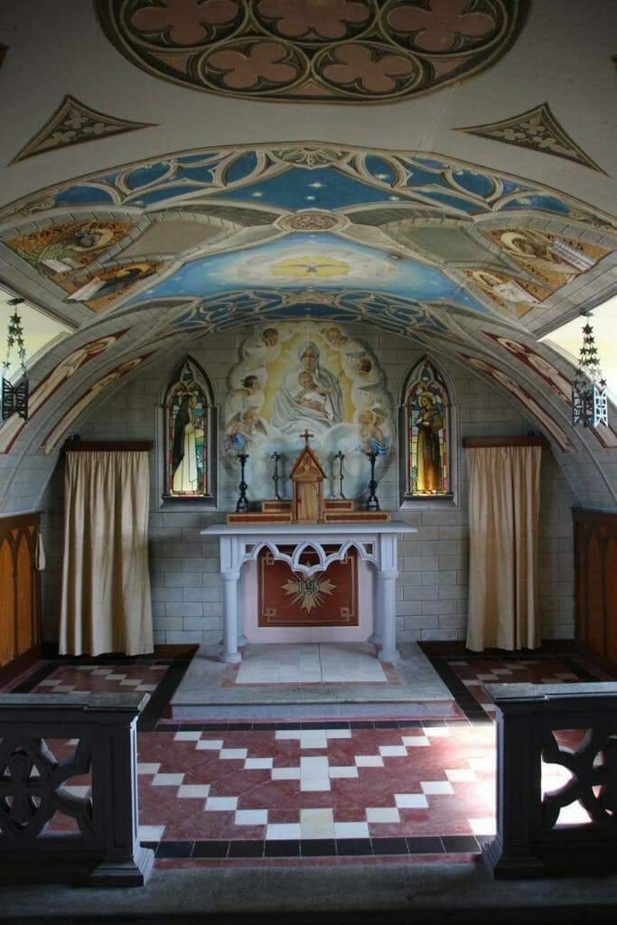 Exquisite artwork inside the Italian Chapel