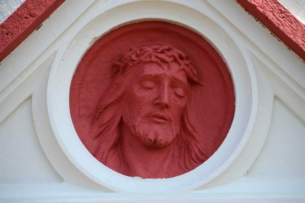 Beautiful artwork on the Italian Chapel