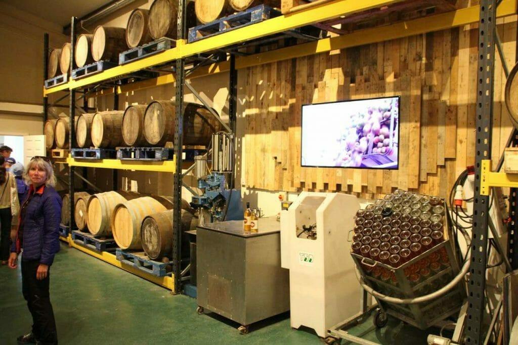 Wine maturing in casks at La Mare