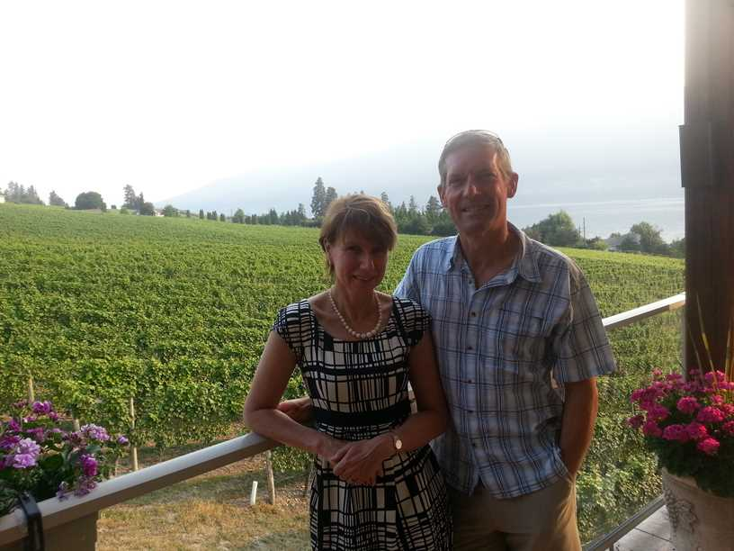 At the Grey Monk winery