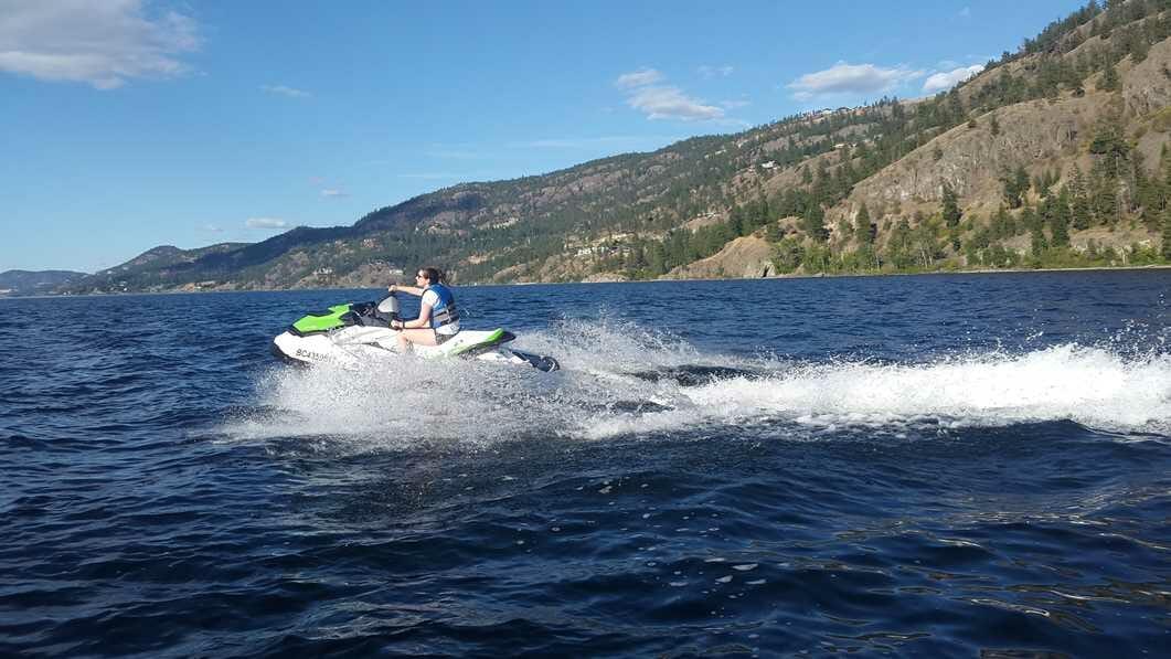 What to do in Kelowna: try a jet ski