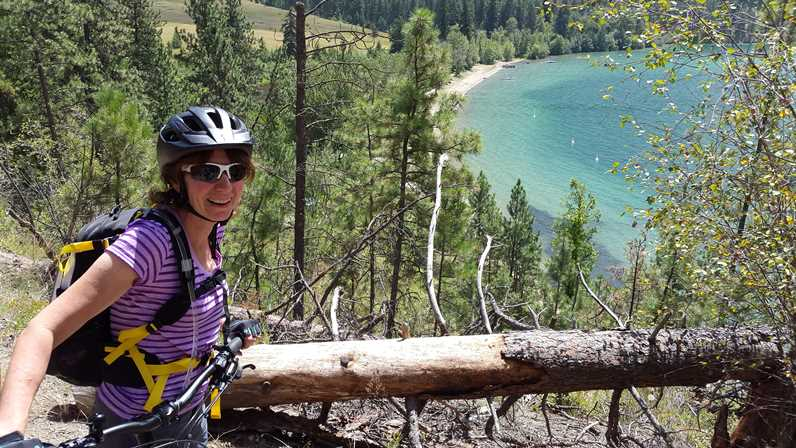 Cycling at Kalamalka