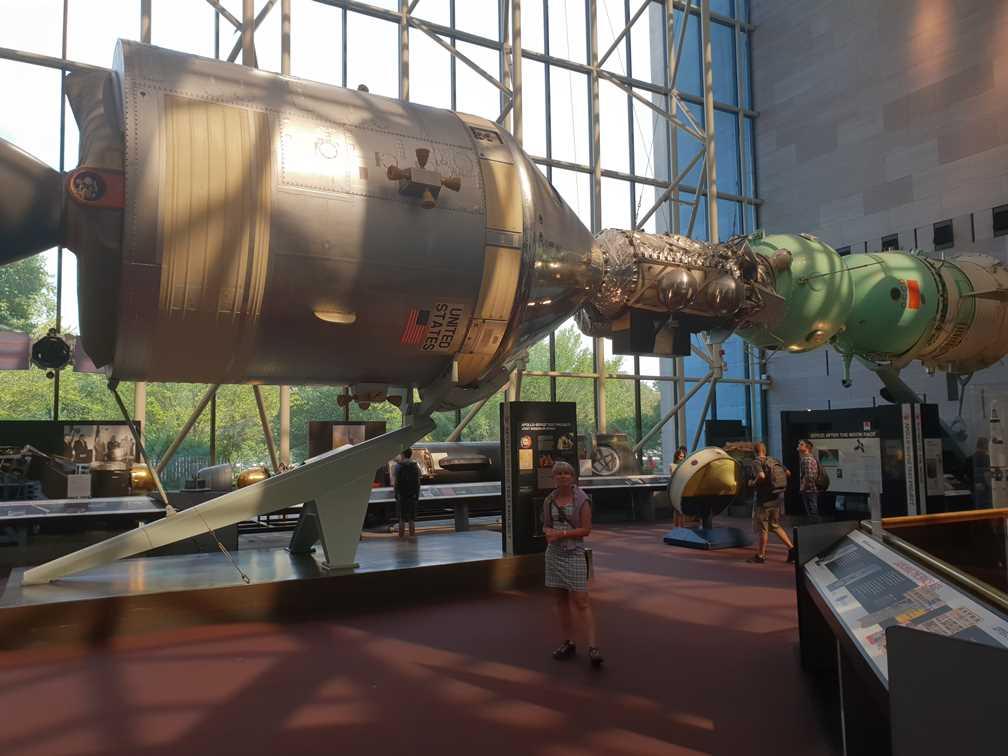 Apollo Module docking with a Soviet Soyuz 19.