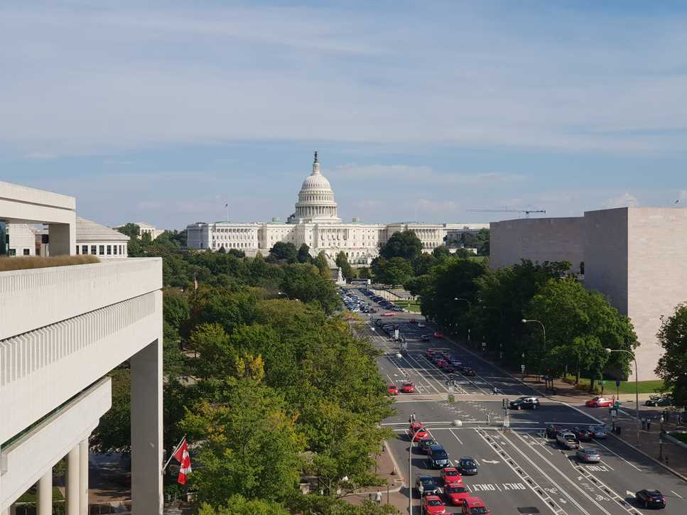 The Newseum on our first time in Washington DC