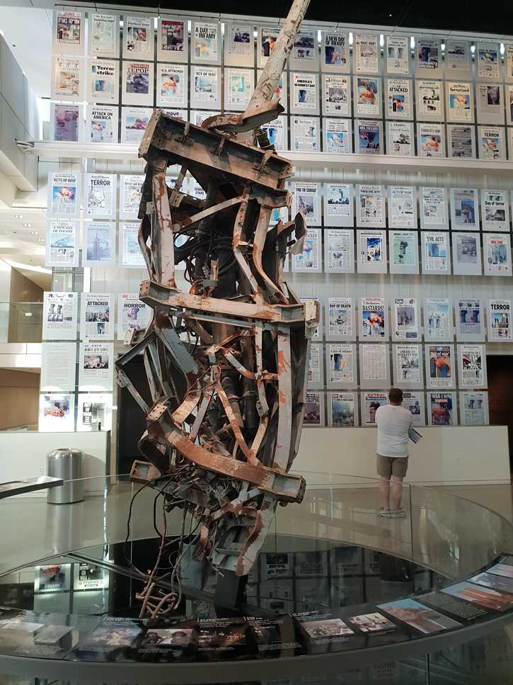 The twisted antenna from the top of the Twin Towers