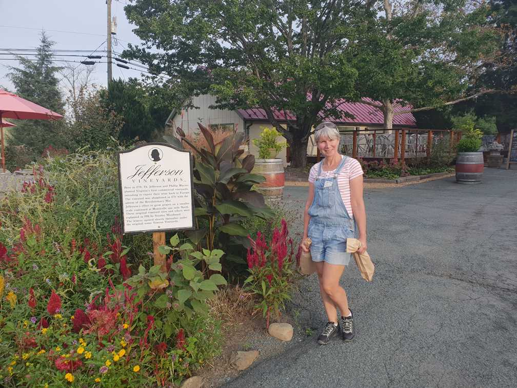 Outside the Jefferson vineyards