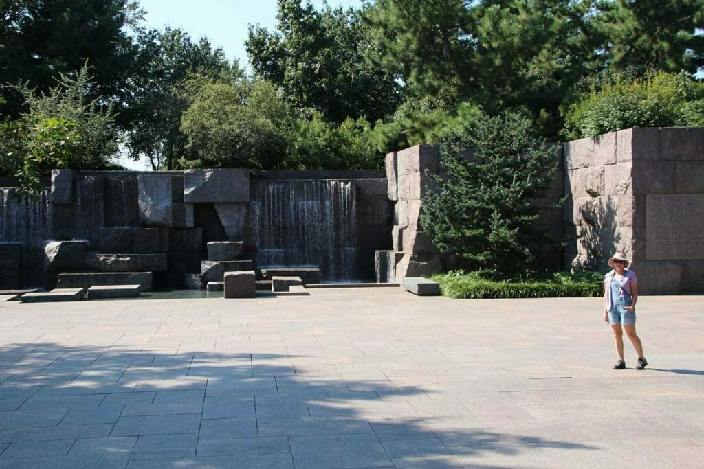 The FD Roosevelt Memorial, another iconic landmark in Washington DC