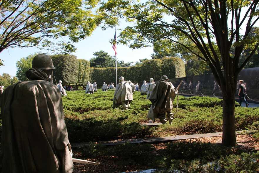The Korean Veterans' war memorial
