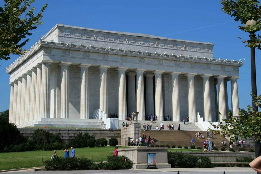 The Lincoln Memorial, another of the iconic landmarks in Washington DC