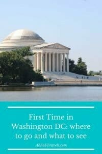 Pin for first visit to Washington DC article