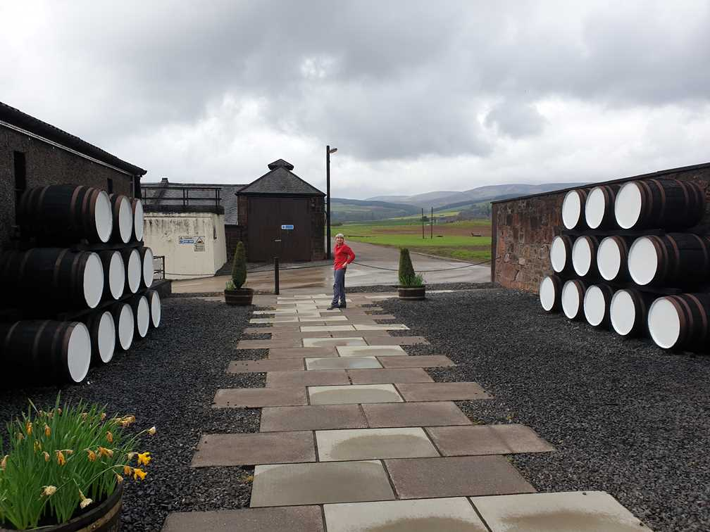 Beautiful setting around Fettercairn whisky distillery