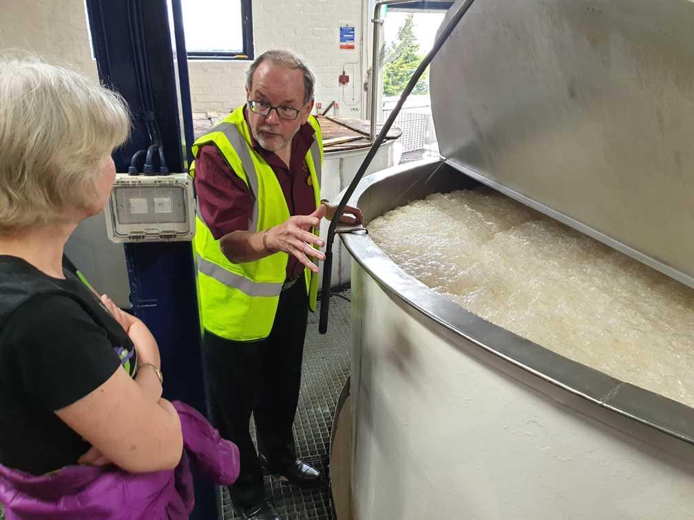 Bubbling away as fermentation takes place