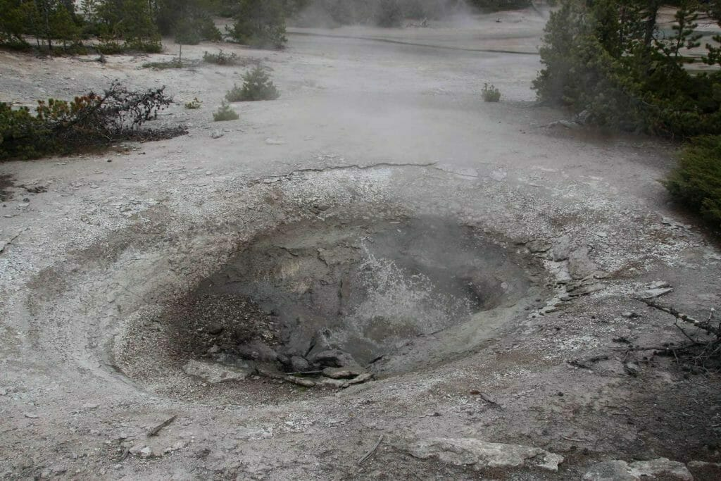 Water boiling in a geyser