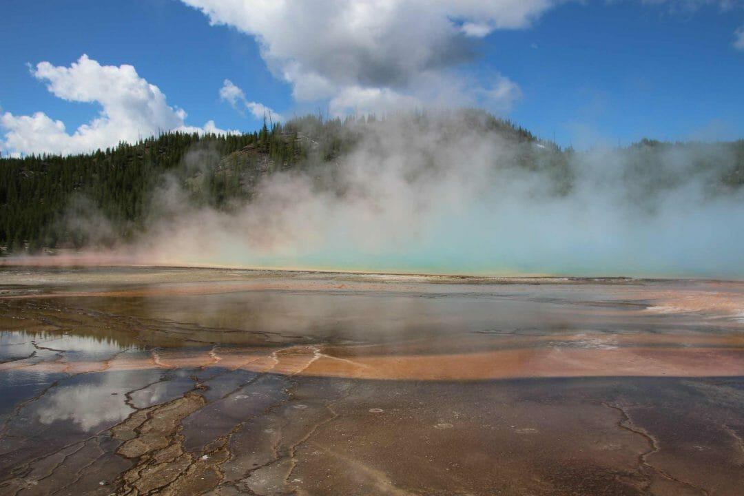 Grand Prismatic Spring, one of the highlights of Yellowstone