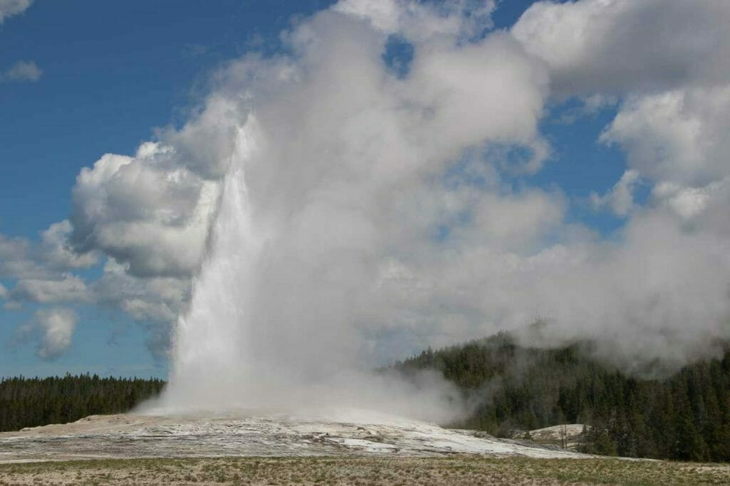 Old Faithful letting rip is one of the highlights of Yellowstone