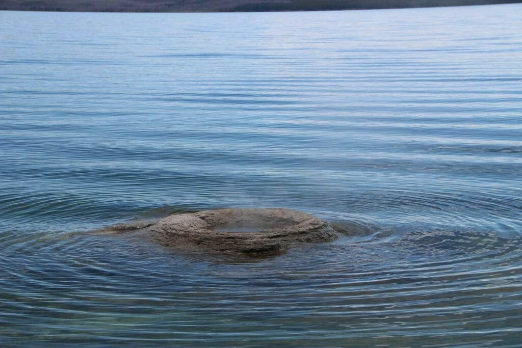 Geyser in the lake