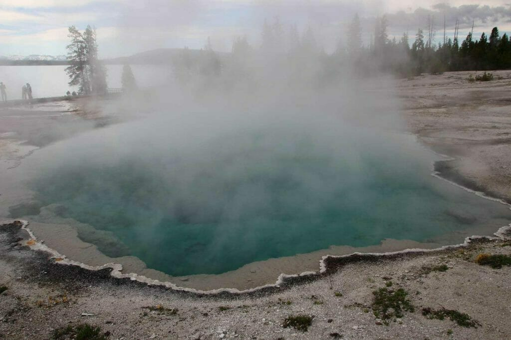 Colourful mineral pool