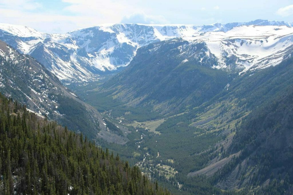 Fabulous view down into the valley