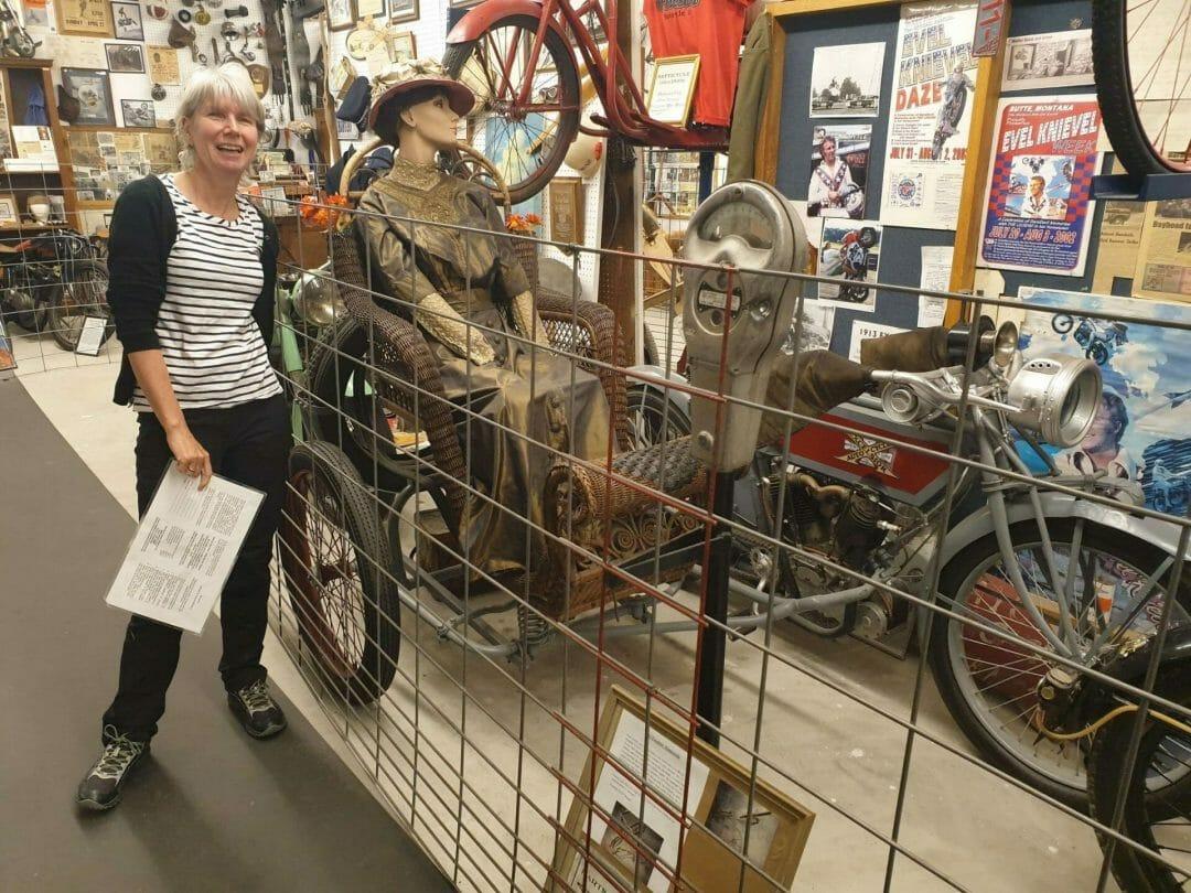 Old wicker sidecar for motorbike