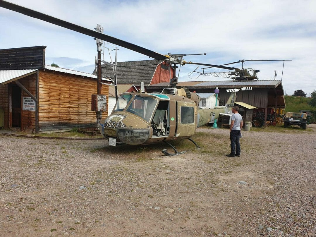 Old helicopter