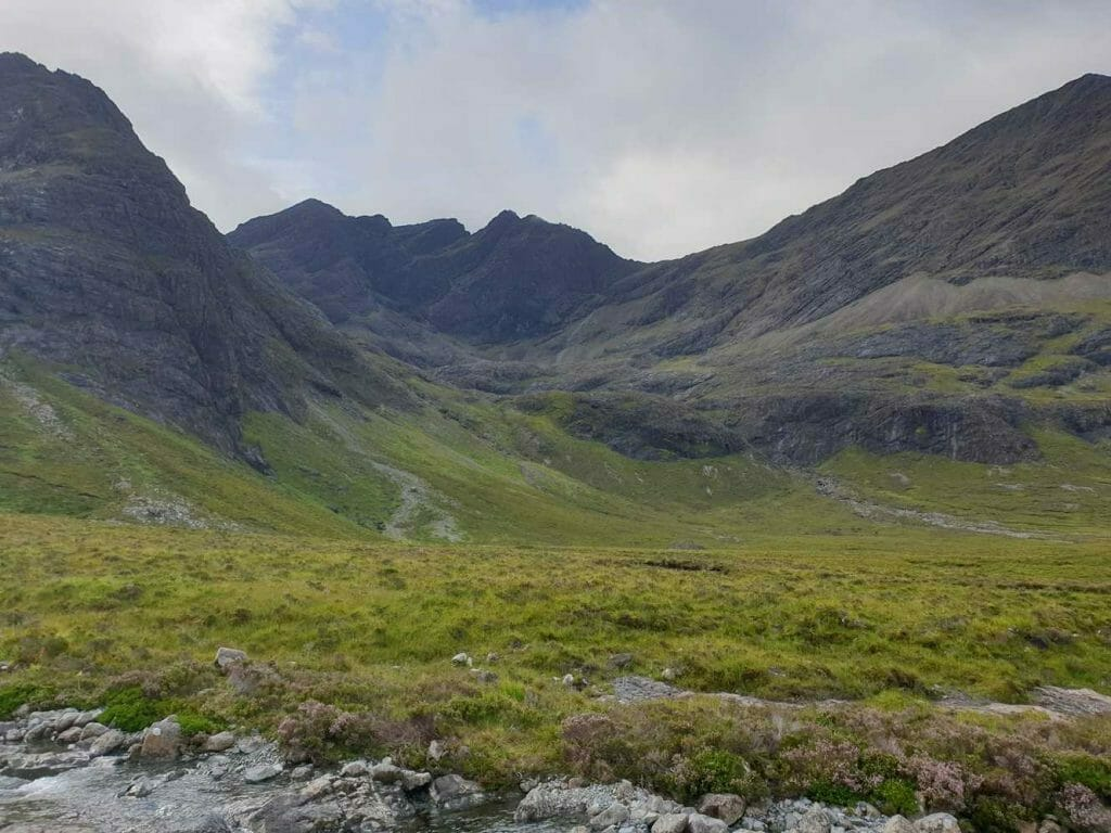 View of the Cullins on Skye