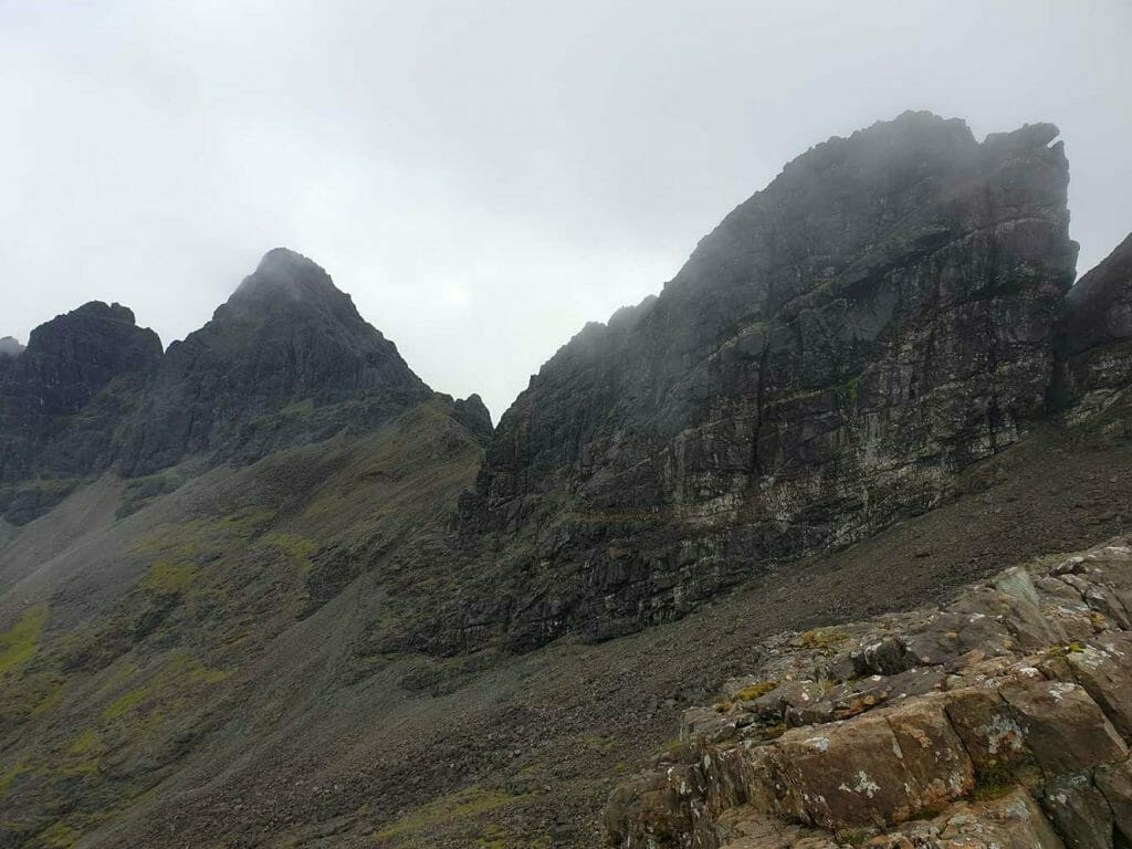 Craggy outcrops on the Cuillins